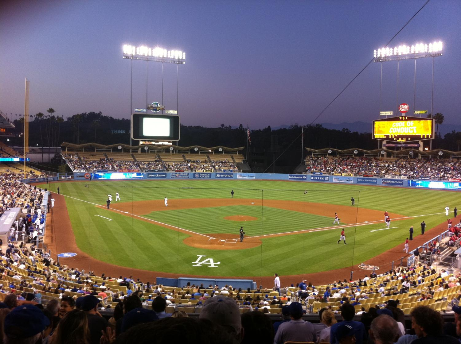 Seen here is Dodger Stadium where two of the six grand slams were hit on May 21, 2000.