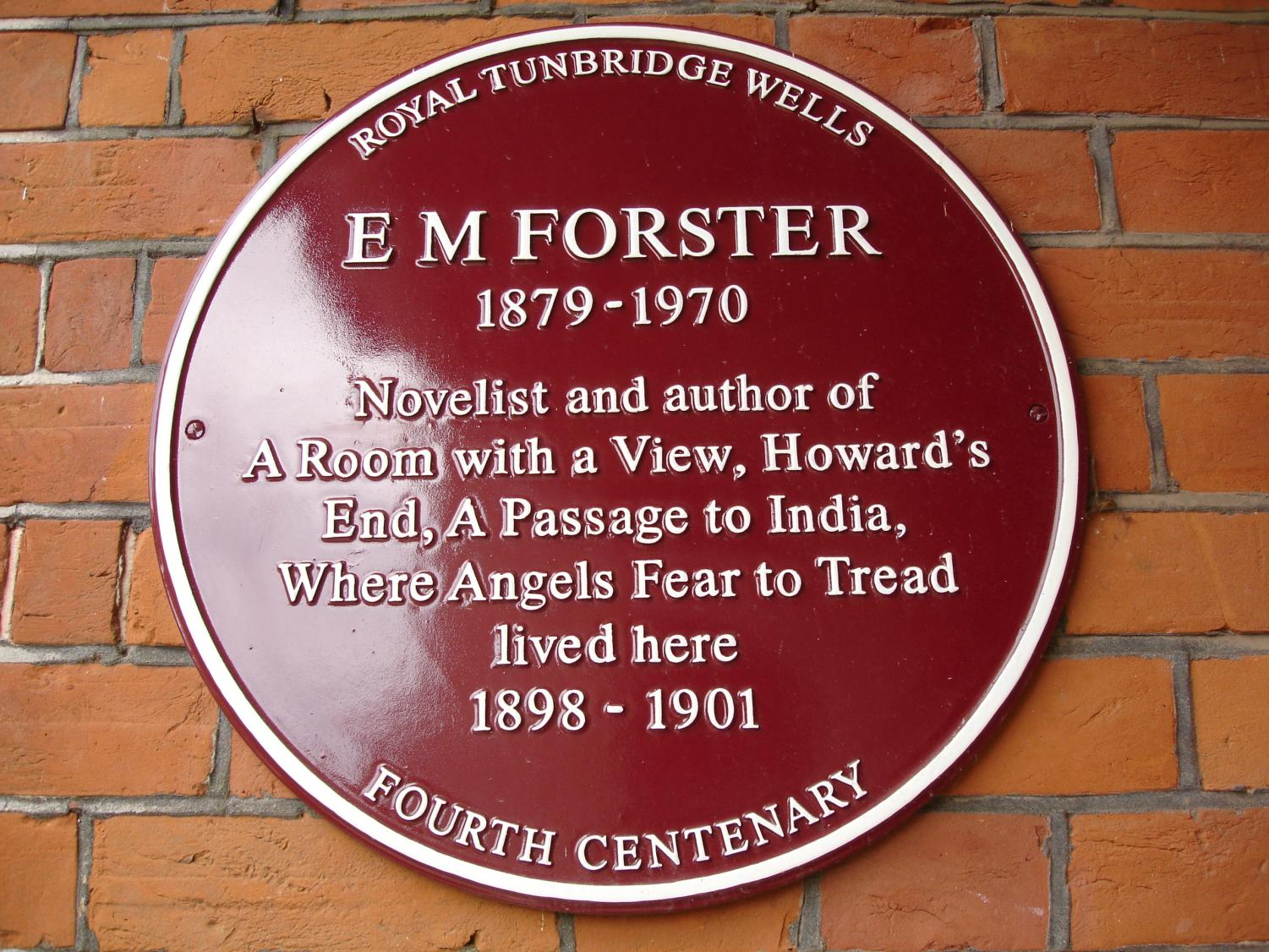 This is a picture that shows the novels that E.M Forster wrote.