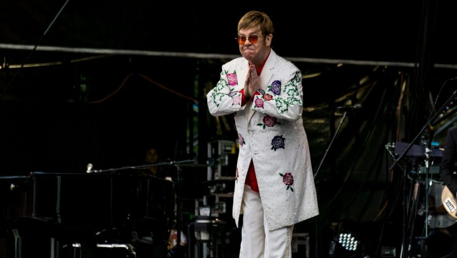 Thankful for his fans for arriving, Elton John is happy to make history.