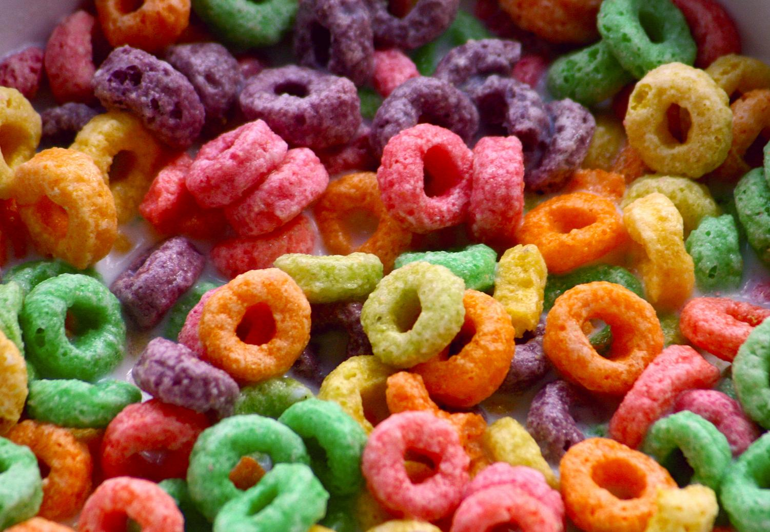 Froot loops are a very popular cereal.