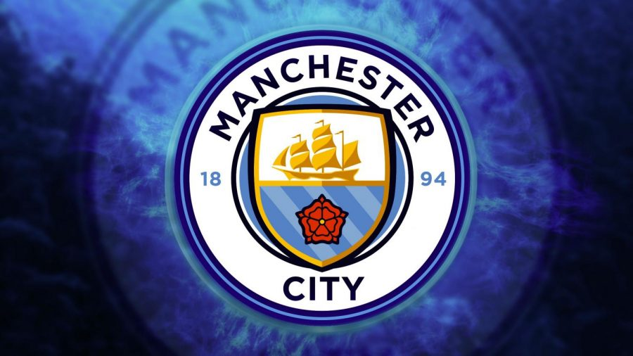 Seen here is the Manchester City logo, who were able to win their first Premier league championship ever in 2012.