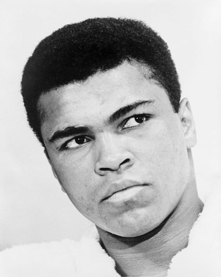 Seen here is all-time boxing legend Muhammad Ali, who was able to defeat Jimmy Young in '76 for the heavyweight title.