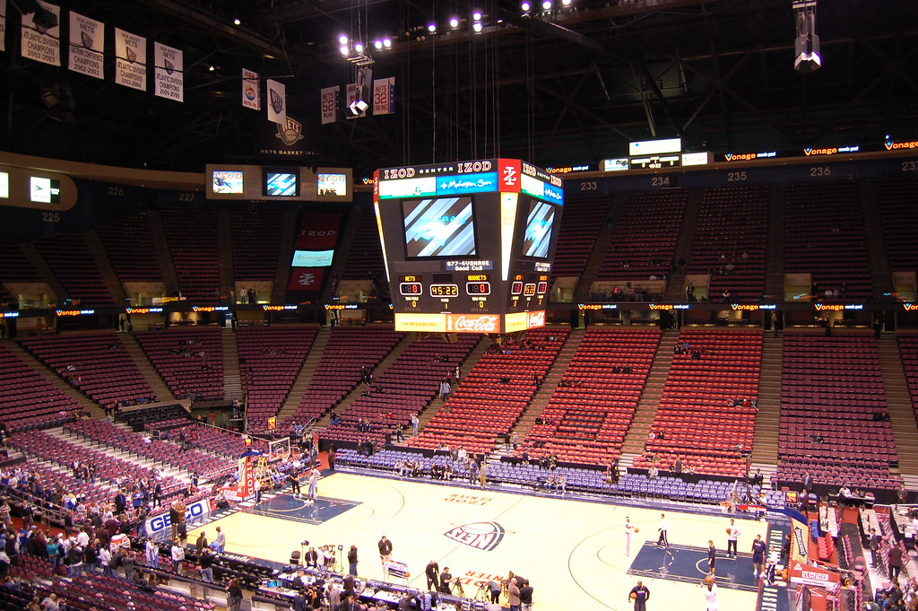 Seen here is the Izod Center, where the New Jersey Nets were playing while they were able to make it to the finals in 2002.