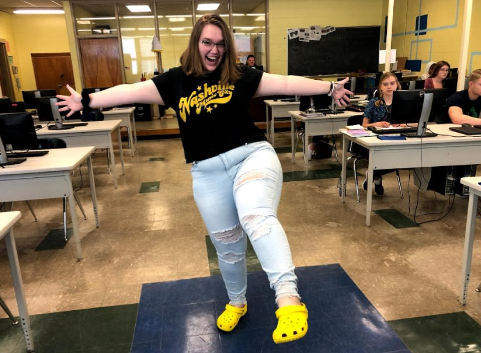 Reporter Hillary Wolanski loves her crocs and wears them almost every day.