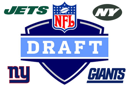 Seen here is the NFL draft logo featuring logos from the two New York City teams, who each had a top six pick in this years draft.