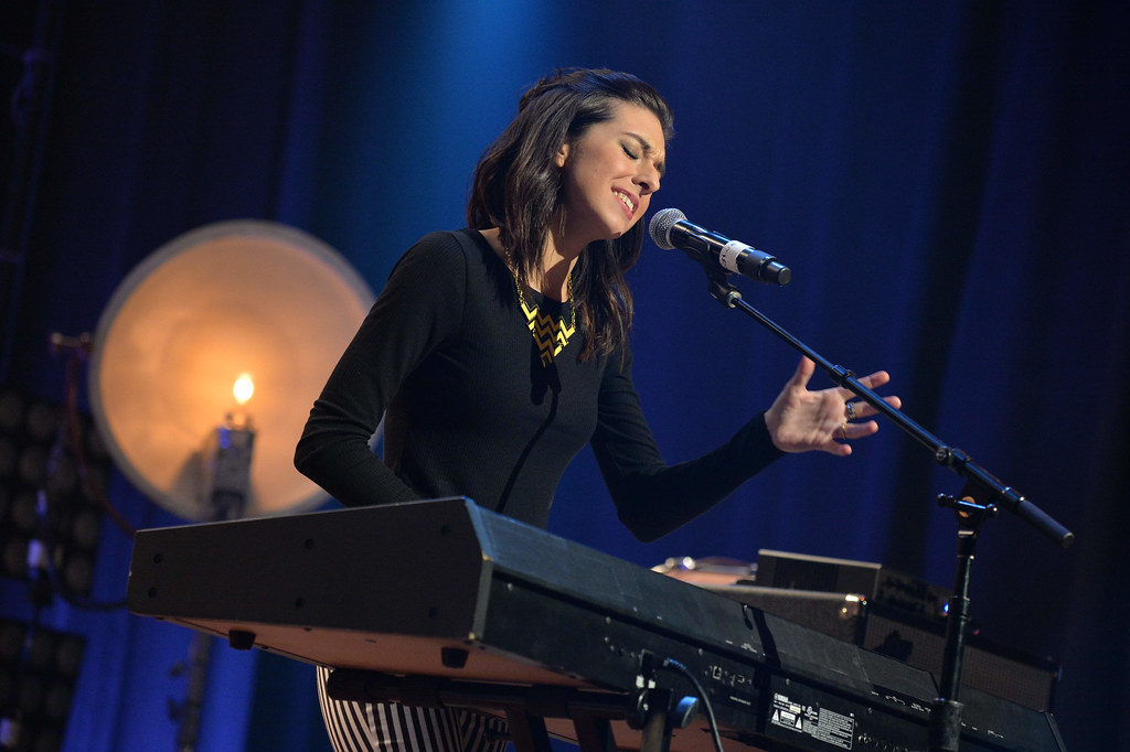 Performing at the Radio Disney concert, Christina Grimmie sings before her death.