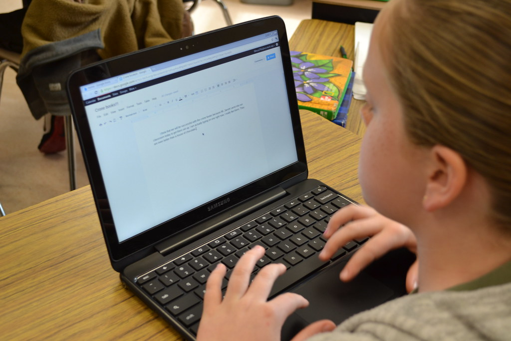 Students use Chromebooks day to day, for many online assignments.