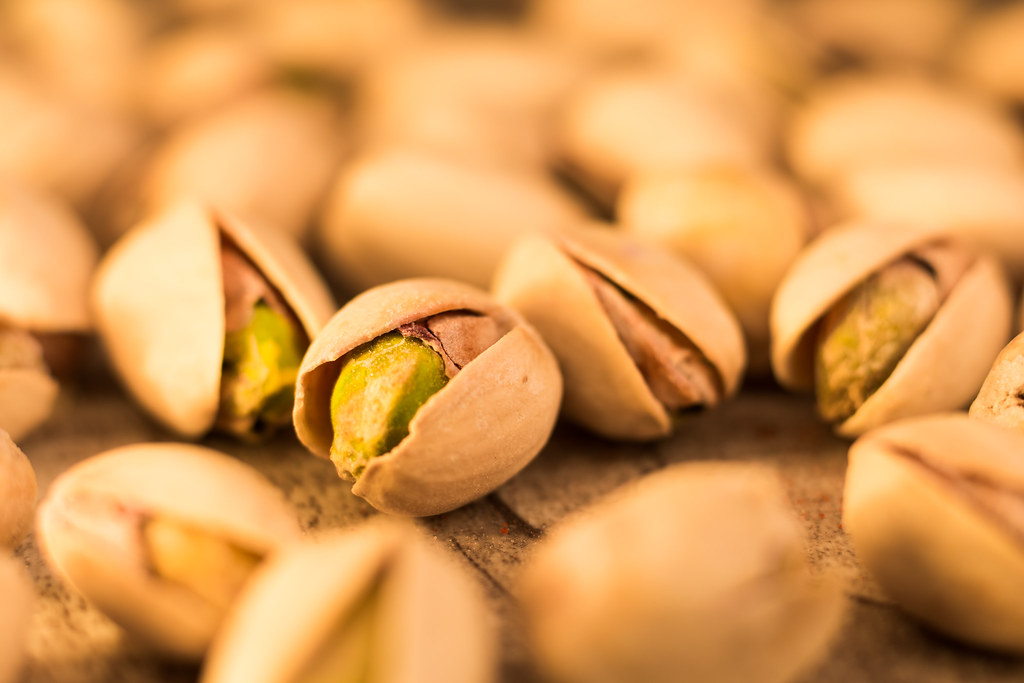 She left her pistachios out for a long time uncovered so it became frowsy.