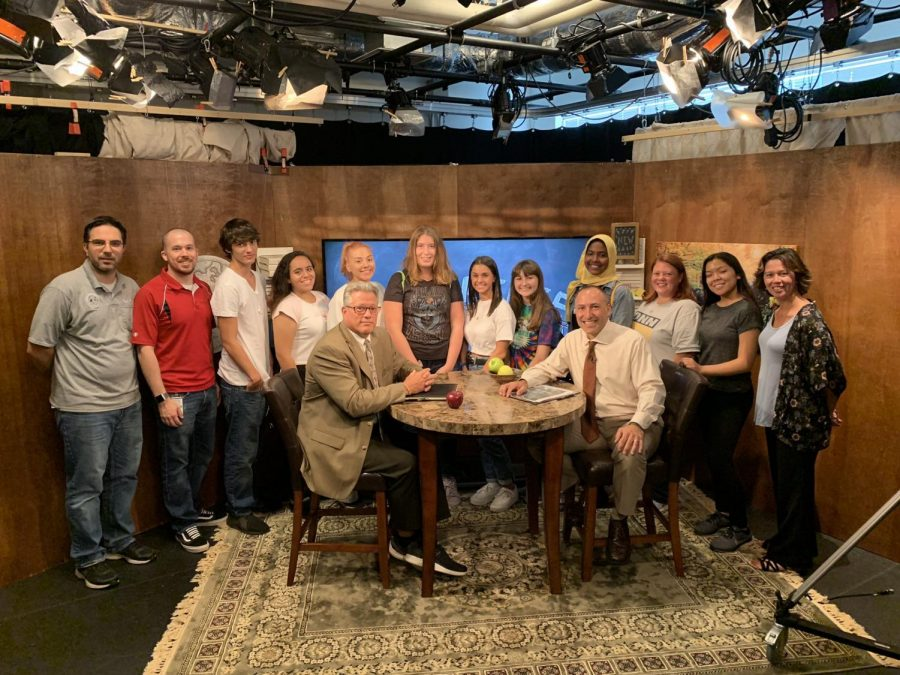 Colonia and Woodbridge High School's Journalism classes with the cast of the Bridge, and special guest, Dr. Zega.