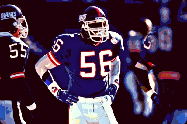 Lawrence+Taylor+had+his+number+56+retired+by+the+Giants+on+this+day+in+1994