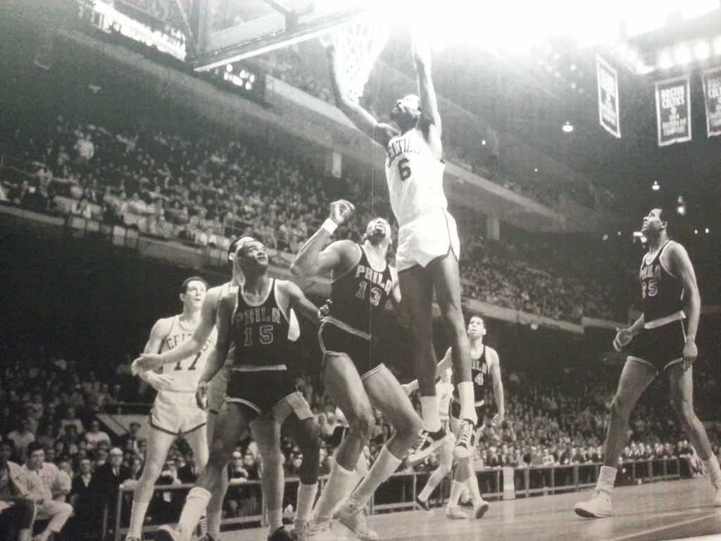 Bill Russell (number 6) got 49 rebounds in a game on this day in 1957