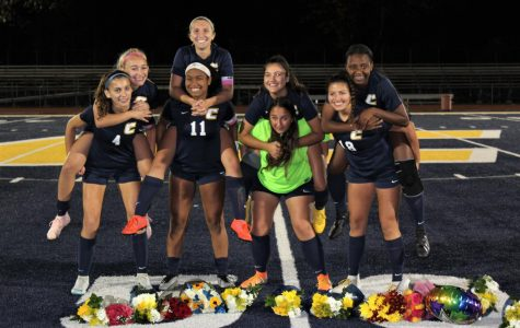 Girls' Varsity Soccer commemorates their seniors