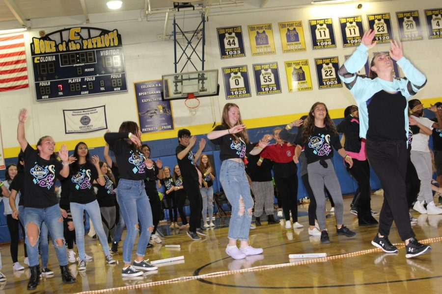 During the festivities of the Mini-thon, students had an opportunity to Zumba.
