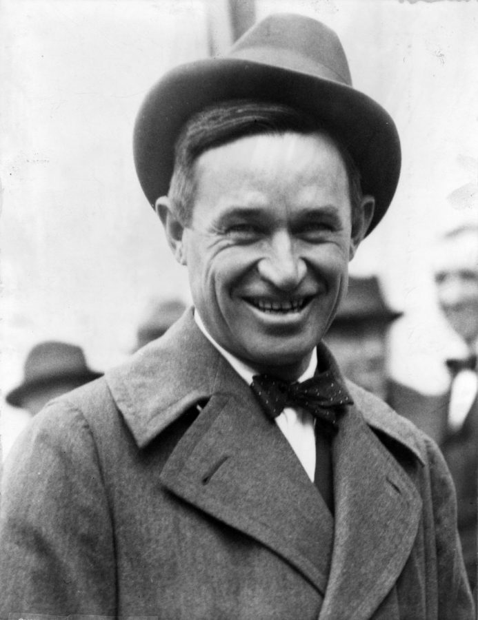 William Penn Adair Rogers was an American stage and motion picture actor, vaudeville performer, cowboy, humorist, newspaper columnist, and social commentator from Oklahoma.