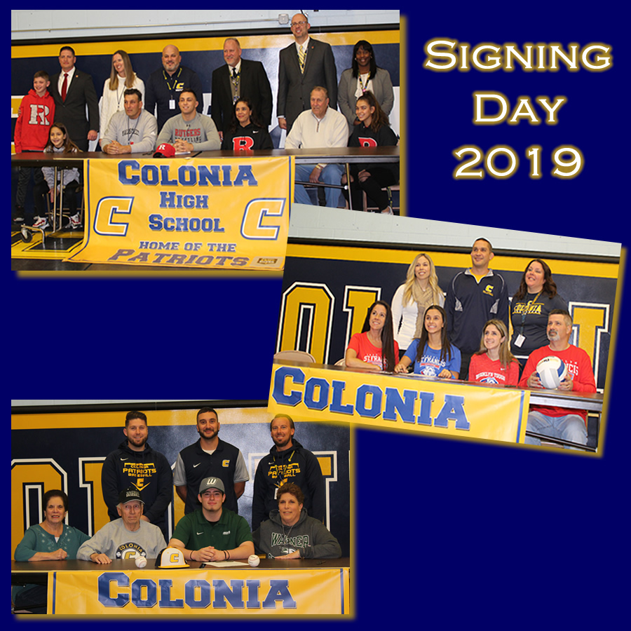 Colonia+High+School+seniors+sign+their+National+Letter+of+Intent