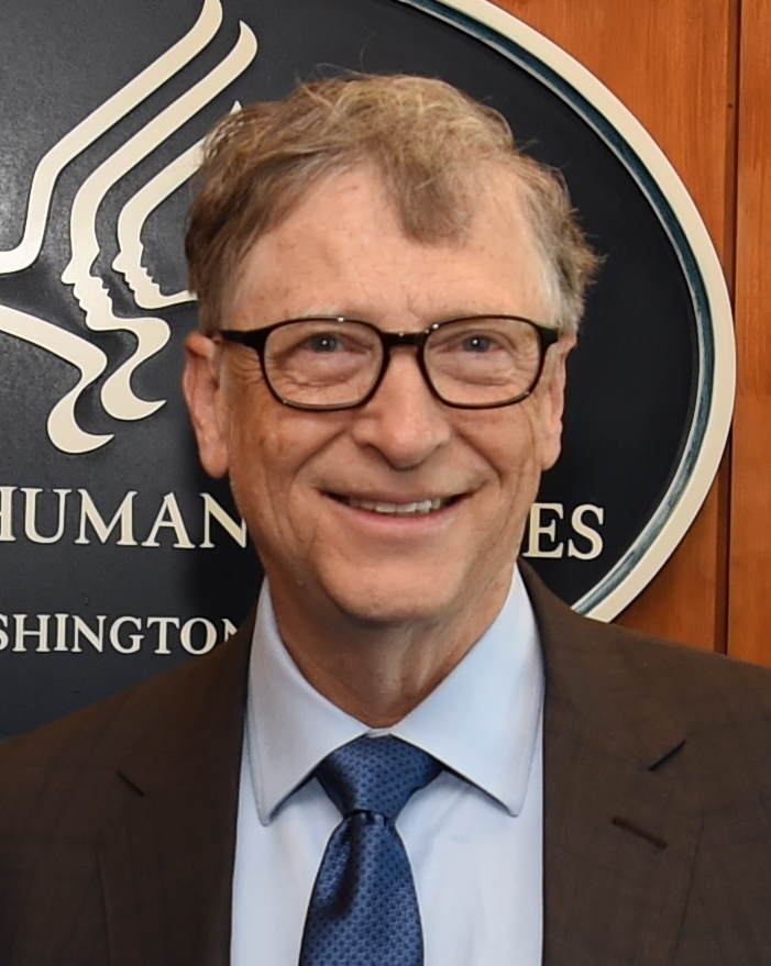 Secretary Alex Azar and Bill Gates.Entrepreneur Bill Gates founded the world's largest software business, Microsoft, with Paul Allen, and subsequently became one of the richest men in the world.