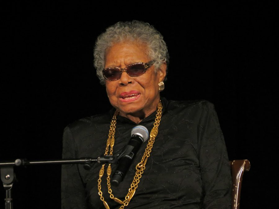 Maya+Angelou+was+a+civil+rights+activist%2C+poet+and+award-winning+author+known+for+her+acclaimed+1969+memoir%2C+%27I+Know+Why+the+Caged+Bird+%22