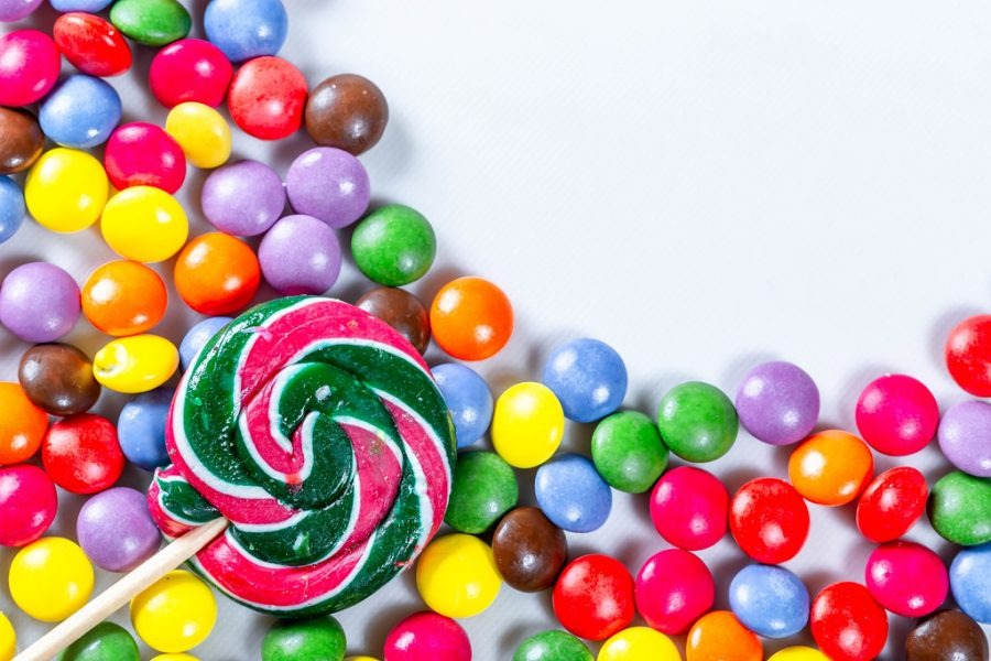 The average American eats 25 pounds of candy each year