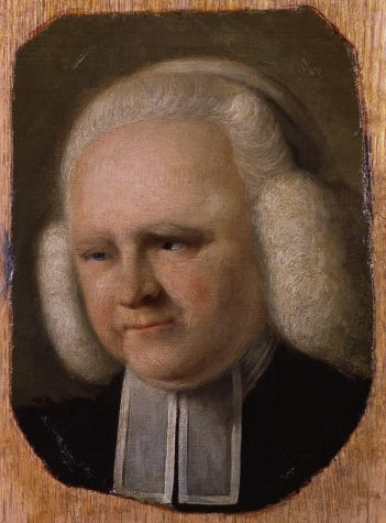 George Whitefield, also spelled Whitfield, was an English Anglican cleric and evangelist who was one of the founders of Methodism and the evangelical movement. Born in Gloucester, he matriculated at Pembroke College at the University of Oxford in 1732.