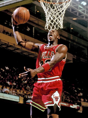 Michael Jordan at Boston Garden. Michael Jeffrey Jordan was born in Brooklyn, New York on February 17, 1963. He was the fourth of five children born to James and Deloris.
