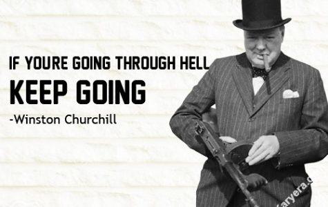 British Prime Minister Winston Churchill led the UK through World War II.