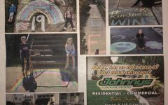 Colonia Corner newspaper shows pictures of people around Woodbridge Township who have done sidewalk chalk to inspire others.