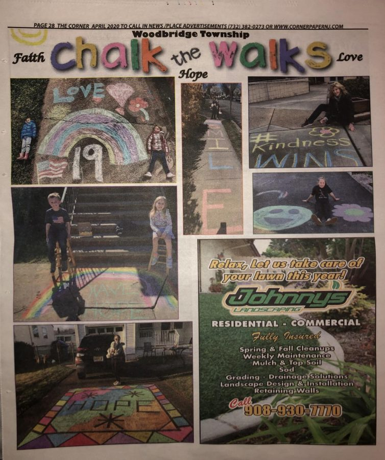 Colonia+Corner+newspaper+shows+pictures+of+people+around+Woodbridge+Township+who+have+done+sidewalk+chalk+to+inspire+others.