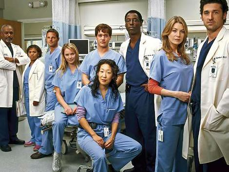 "The cast of the famous medical drama, ""Grey"