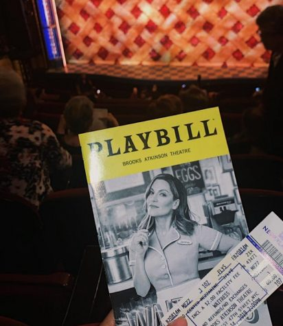 Playbill for the Waitress Musical at Brooks Atkinson Theatre.