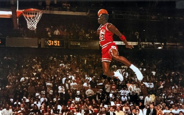 On this day in 1987 Jordan became the 2nd player to score 3,000 points in a season