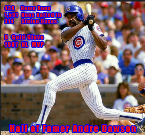 On this day in 1987 Andre Dawson hit for the cycle