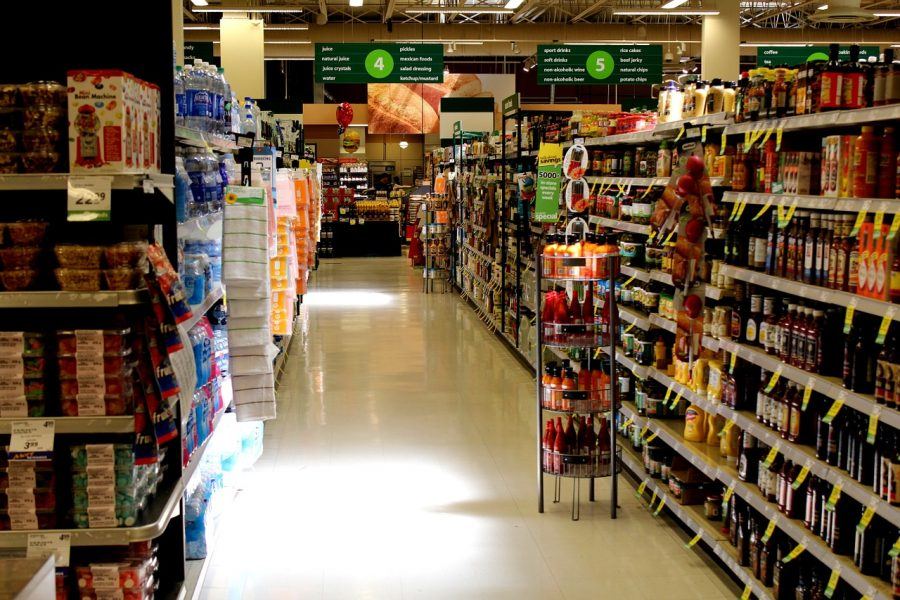Grocery stores carry different food products