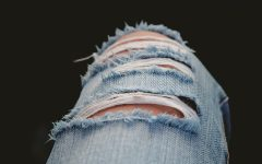 Ripping your own jeans is something easy and gives you satisfaction knowing you did it yourself.