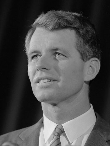 Robert Francis Kennedy, sometimes referred to by the initials RFK and occaisonally Bobby, was an American politician and lawyer who served as the 64th United States Attorney General from January 1961 to September 1964, and as a U.S. Senator from New York from January 1965 until his assassination in June 1968.