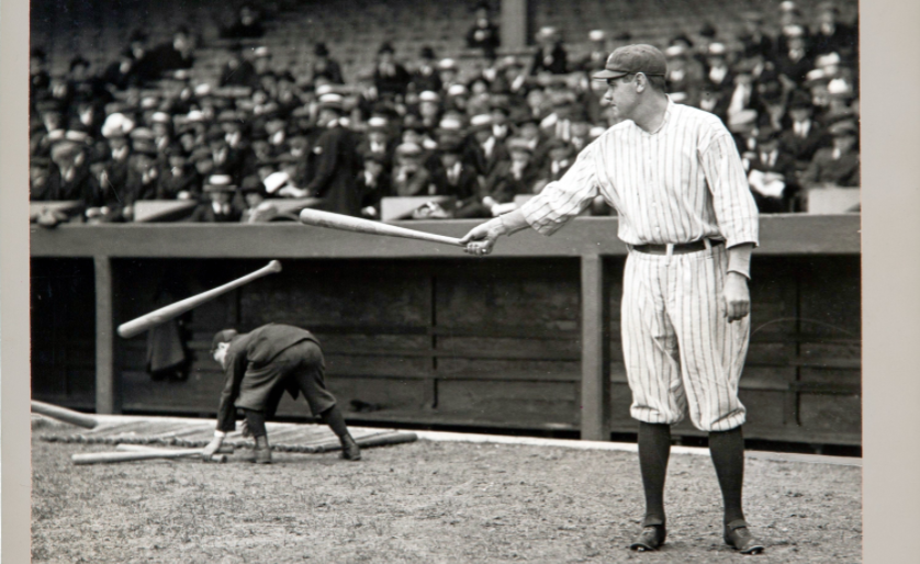 On this day in 1915 Babe Ruth (right) hit his first home run