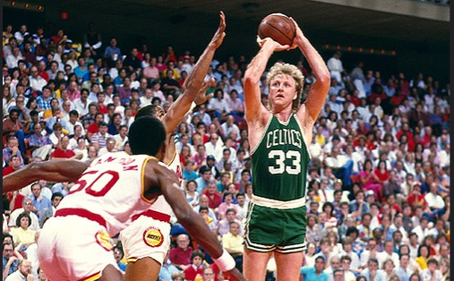 On this day in 1981 Larry Bird (right) and the Boston Celtics won the NBA championship