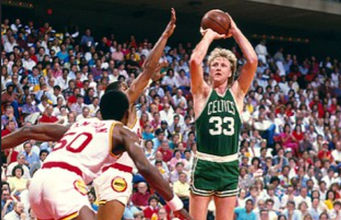 On this day in 1980 Larry Bird (right) won rookie of the year