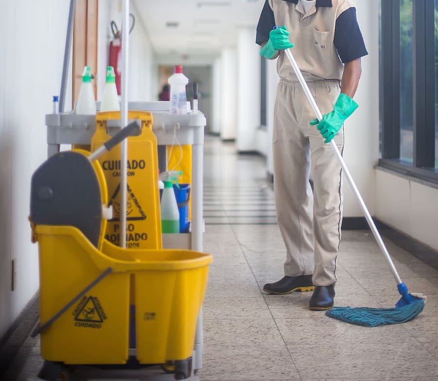 Woodbridge schools are taking extra precautions to maintain a clean school. Janitors are to follow specific guidelines and protocols everyday in order to keep students safe.