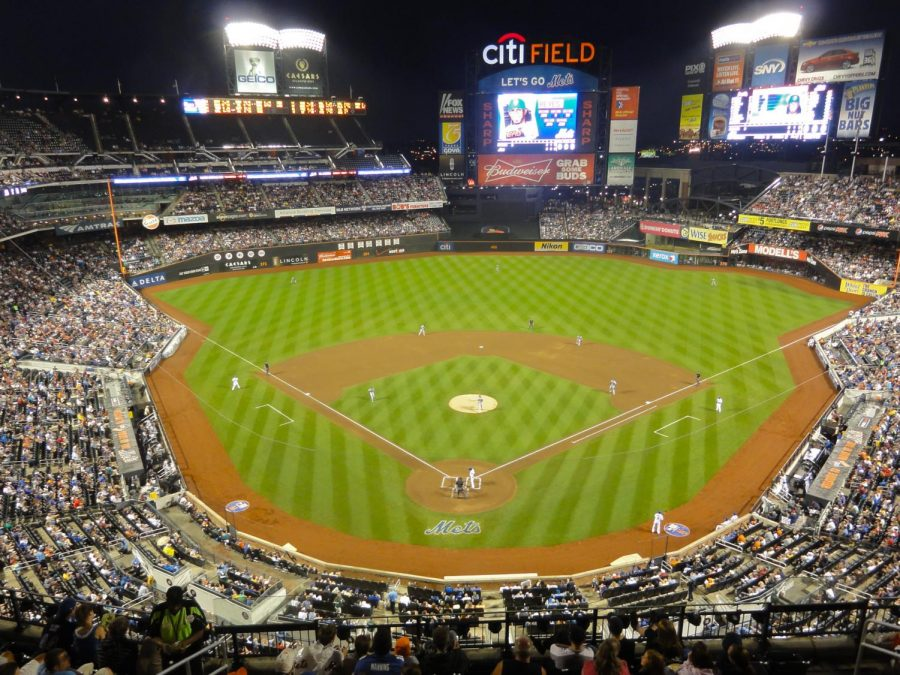 A view of Citi Field. the view from the inside is stunning and connot be replicated from a TV Screen.