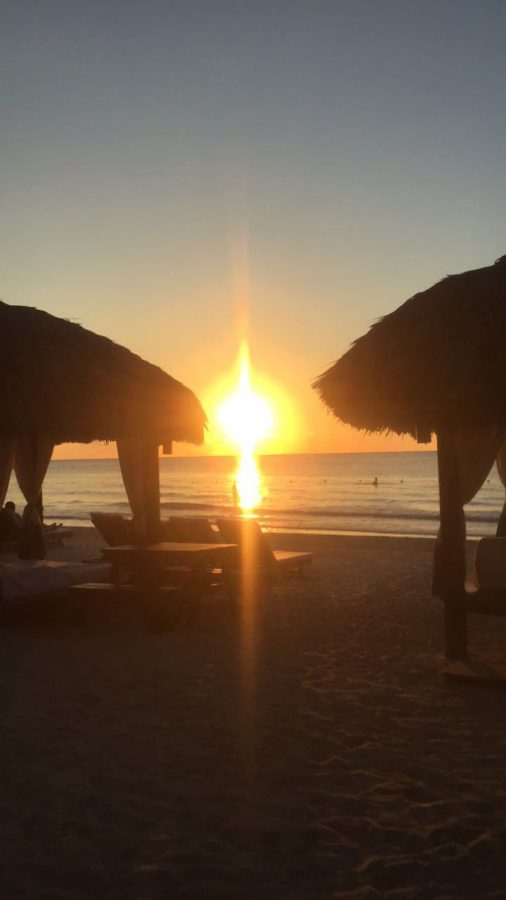 The sunset (taken in Negril, Jamaica), is one of the best parts of visiting the island. Alongside the crystal-clear waters and the beautiful palm trees, the Jamaican sunset is truly amazing.