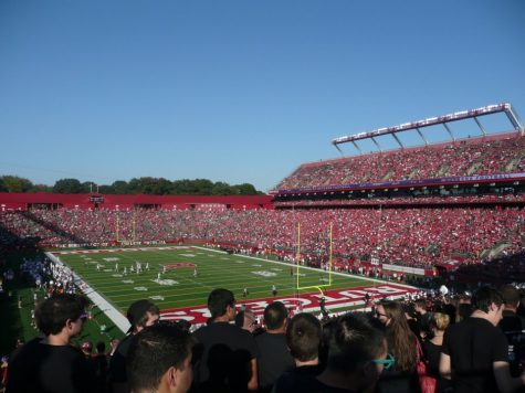 Pictured above is SHI Stadium in New Brunswick, NJ home to the Rutgers Scarlet Knights. Princeton and Rutgers played each other in the old Rutgers Stadium decades before.