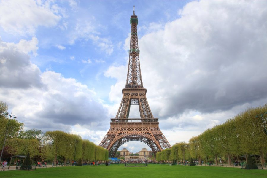 Pictured above is the Eiffel Tower, located in Paris, France. Its 134 years old.