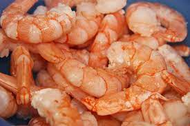 Above is shrimp, a favorite food of many.  They have a very interesting body composition.