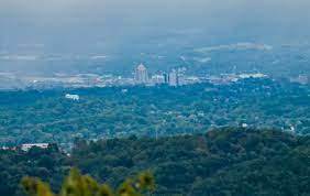 Pictured above is the Roanoke skyline located in Virginia. Years before, Sir Walter Raleigh explored this area.